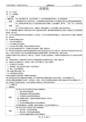 强烈推荐:08年考468分考生的笔记——经济法.doc
