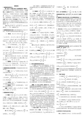 高中数学圆锥曲线解题技巧方法总结及高考试题和答案.doc