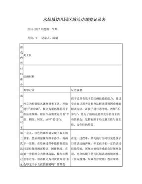 区域观察记录表.doc