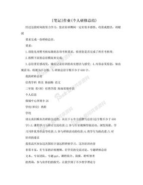 [笔记]作业(个人研修总结).doc