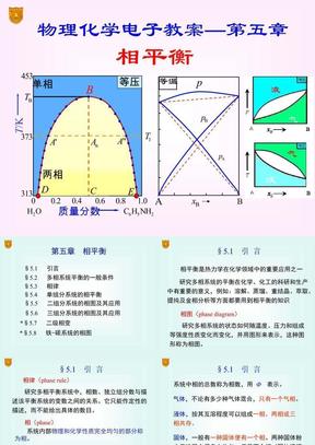 傅献彩物理化学电子教案课件-第五版05章_相平衡.ppt