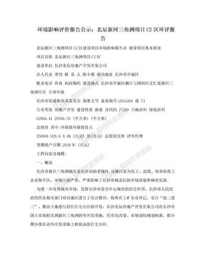 环境影响评价报告公示:北辰新河三角洲项目C2区环评报告.doc