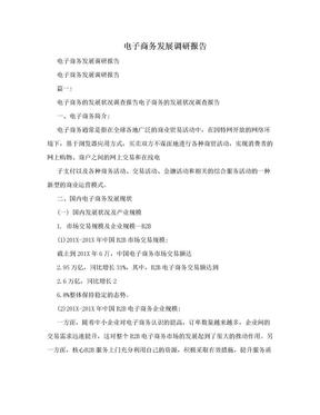 电子商务发展调研报告.doc