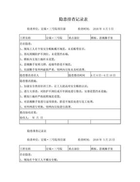安全隐患排查记录表(日常检查).doc