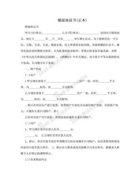 婚前协议书(正本).doc