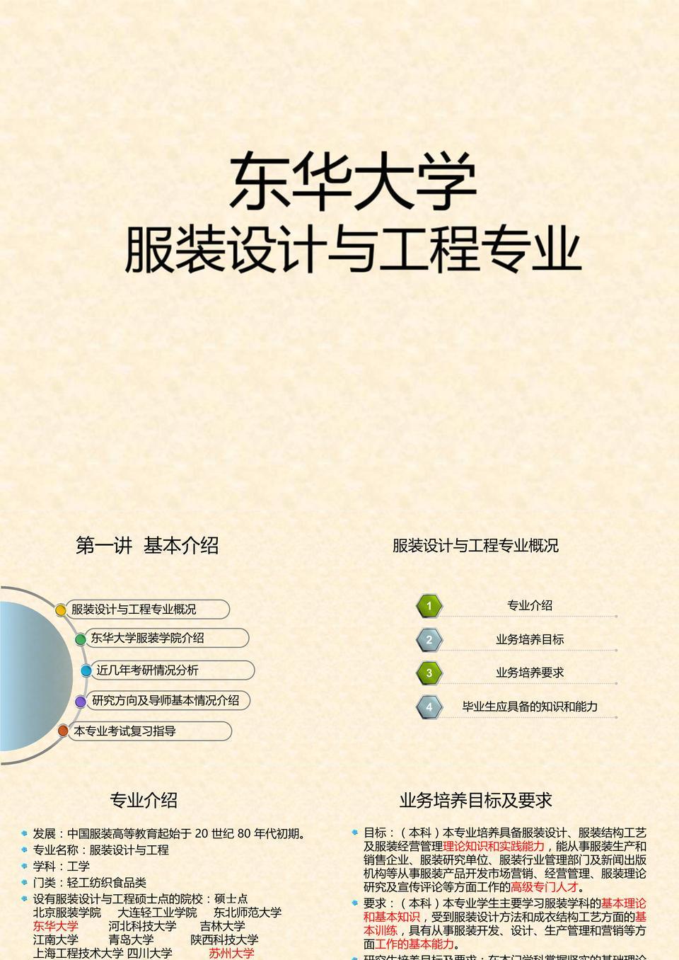 东华大学服装设计与工程专业考研资料.ppt