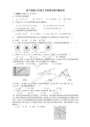 新人教版八年级上学期期末数学测试卷及答案.doc
