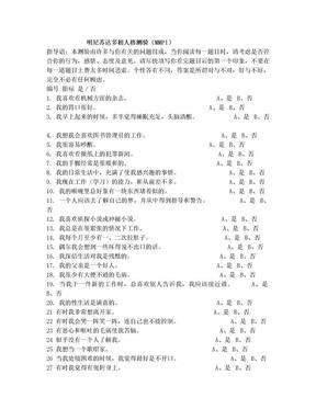 MMPI问卷调查表.doc
