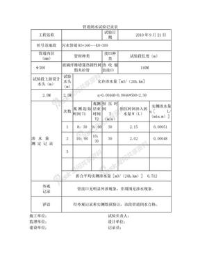 管道闭水试验记录表.doc