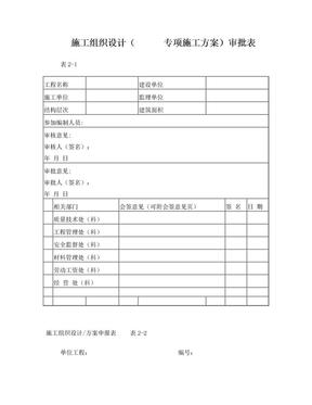 施工组织设计(        专项施工方案)审批表.doc
