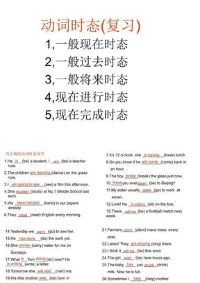 初三英语动词时态复习课件.ppt