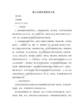 依云小镇认筹蓄客方案.doc