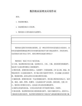 数控机床原理及应用作业.doc