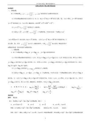 高三数学培优补差辅导专题讲座4-指数函数和对数函数典例剖析.doc