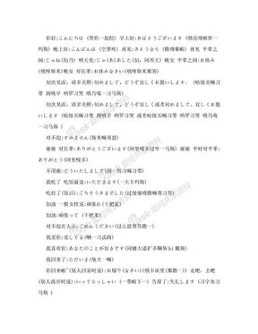 日语日常用语中文音译大全.doc