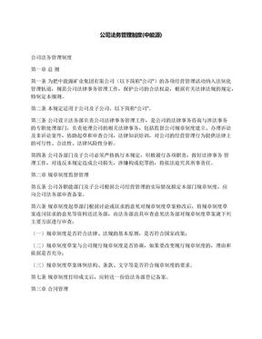 公司法务管理制度(中能源).docx