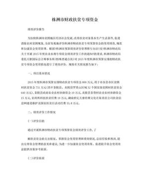 株洲财政扶贫专项资金.doc