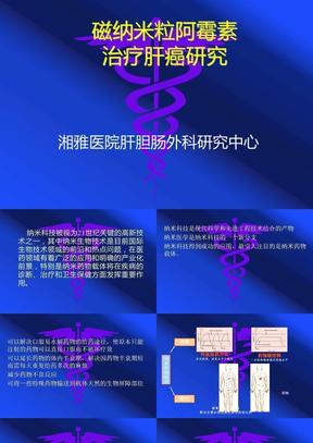 磁纳米粒阿霉素治疗肝癌研.ppt