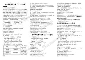 初中英语复习专集——知识点.pdf