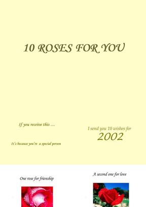 送你的10玫瑰.ppt