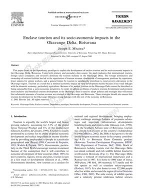 旅游社会经济影响(外文文献).PDF