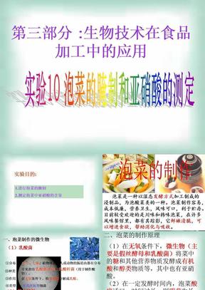 泡菜的腌制和亚硝酸盐的测定(上课版).ppt