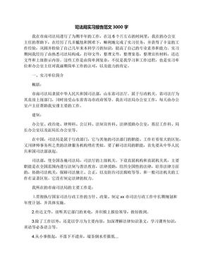 司法局实习报告范文3000字.docx
