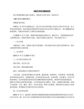 文秘工作实习报告范文.docx