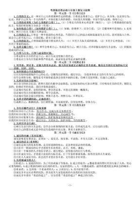 粤教版思想品德八年级上册复习提纲(整理).doc