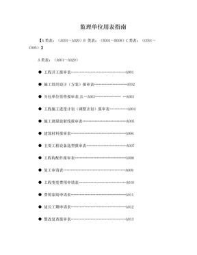 建设工程监理单位全套用表_四川建龙软件表格四川建龙.doc
