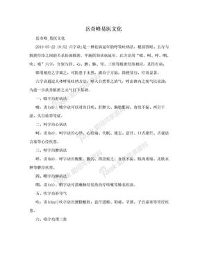 岳奇峰易医文化.doc