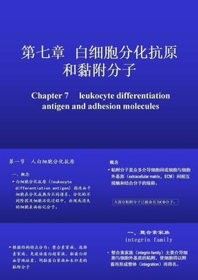 07白细胞分化抗原和黏附分子(本,2011).ppt