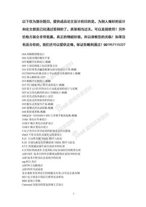 部分成品毕业论文题目列表.doc