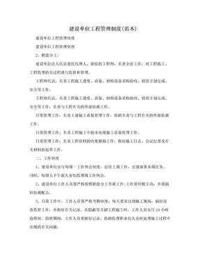 建设单位工程管理制度(范本).doc