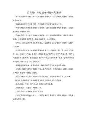 消毒隔山功夫 分公司离制度[指南].doc