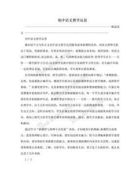 初中语文教学反思.doc