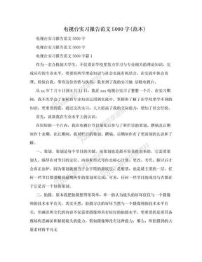 电视台实习报告范文5000字(范本).doc