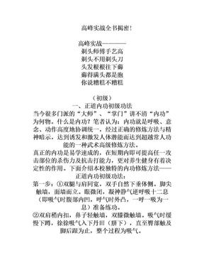 高峰实战全书揭密!.doc