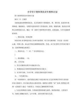 小学骨干教师帮扶青年教师计划.doc
