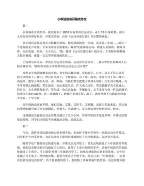 小学运动会开幕式作文.docx