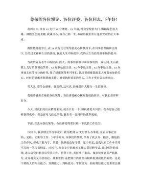 农行副行长竞聘演讲稿.doc