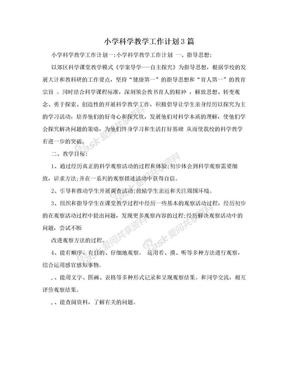 小学科学教学工作计划3篇.doc