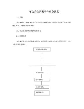 年会安全突发事件应急预案.doc