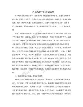 声乐兴趣小组活动总结.doc