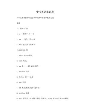 中考英语单词表(必备).doc
