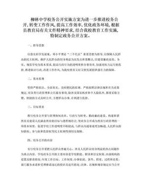 学校政务公开实施方案.doc
