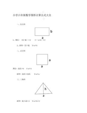 小学六年级数学总复习——图形计算公式.doc