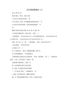高中篮球课教案(3).doc