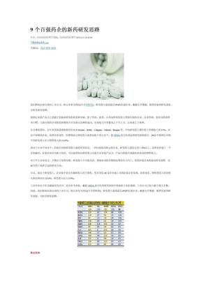 9个百强药企的新药研发思路.docx