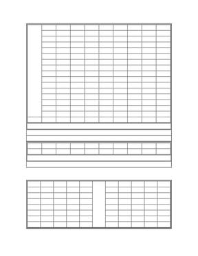 钢笔字书法空白模板.doc